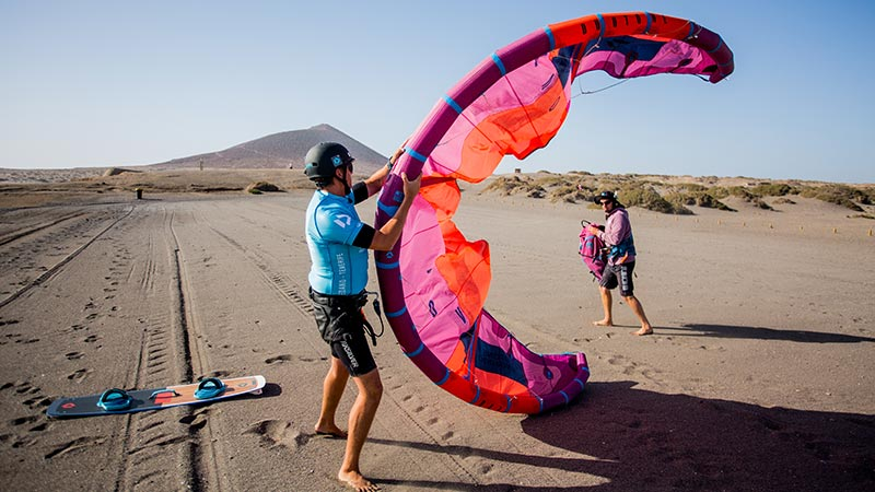 Kitesurfing lesson in El Medano with DPC Tenerife